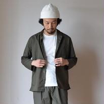 【2017春夏新作】AUDIENCE SMALL STAND COLLAR 9/S RIGHT JACKET KHAKI オーディエンス スモールスタンドカラー 9分袖 ライトジャケット カーキグレー
