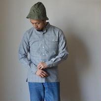 【ラスト1枚!】Re made in tokyo japan アールーイーメイドイントーキョージャパン   TRIPLE STITCH BD SHIRT トリプルステッチボタンダウンシャツ グレー
