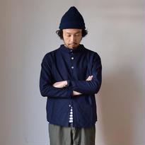 【完売御礼】nisica ニシカ ガンジーネックシャツ ネイビー
