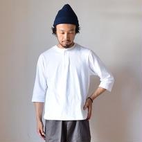【完売御礼】nisica mokusiro by nisica SNAP HENRY NECK 3/4 SLEEVE CUTSEWN ニシカモクシロ スナップヘンリー七分袖カットソー ホワイト