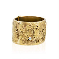 Mermaid Large Bangle Gold
