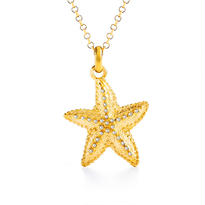 Sea Star Charm Gold