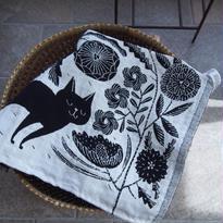 鹿児島睦×ラプアン カンクリ キッチンタオル イヌとネコ(KOIRA JA KISSA)