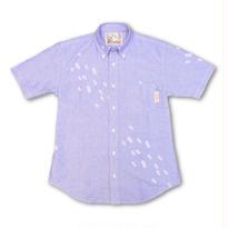 半袖イカシャツ -OXブルー-