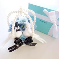 "NATURAL ""chance""(BLUE)♡結婚祝い♡幸せを願う小鳥のアレンジ"