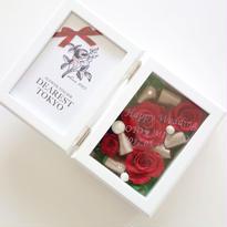 "MEMORIES ""ROSE""  名入れ♡メッセージ刻印♡赤いバラのフォトフレーム"