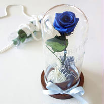 "NATURAL   "" La rose bleue ""   美女と野獣♡名入れギフト♡バラを閉じ込めたガラスドーム"