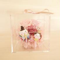 "message ROSE ""OHINASAMA"" ♡名入れ♡【雛祭り】お雛様のフラワーボックス"