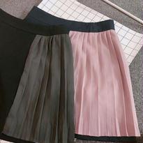バイカラープリーツスカート【2カラー】
