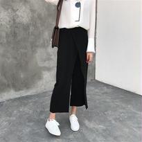 レイヤード風ストレートパンツ【2カラー】