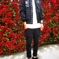 *春物MA-1ジャケット*ブラック/カーキ