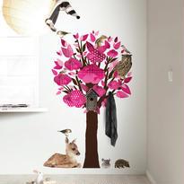 ウォールスティッカー Forest Friends Tree Pink - KEK Amsterdam