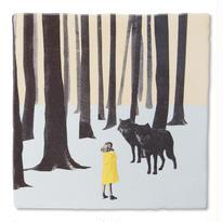 StoryTiles タイル Wolf Girl 10x10