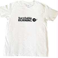 turntableBURNING Tシャツ - 白