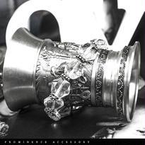 【天然石   六芒星・天然水晶・ヘキサグラム・シルバー925・シンプルブレスレット】守護・開運・心身浄化