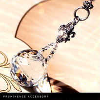 """【天然石   水晶&Glassサンキャッチャー """"Crystal Lily-Round""""】癒し・浄化・幸運"""