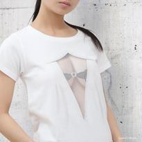 妄想シースルーTシャツ/ MESH WHITE