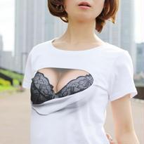 妄想バーストTシャツ/ BLACK & CHARCOAL