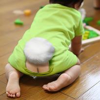 ミミックロンパース・バニー/ ライムグリーン