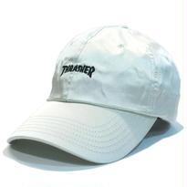 THRASHER SATIN CURVE CAP WHT