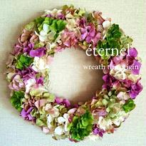 pink×green wreath  φ30