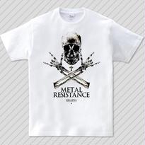 Metal resistance / スカルメタルTシャツ