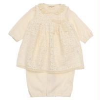 SENSE OF WONDER オーガニックコットン 2017年春夏 BASICエプロン付き兼用ドレス [50-70cm] 日本製
