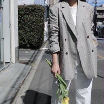 linen checkjacket
