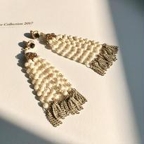 Pearl fringe pierce