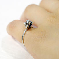 """""""marmo ring"""" bk/wh small"""