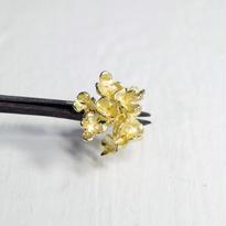 """hydrangia pierce"" gold large"