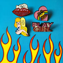 'PLAY GIRL' Pins