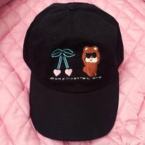 CAP-BB & Heart cherry / BLACK
