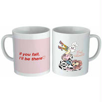 'If you fall, I'll be there♡' Mug