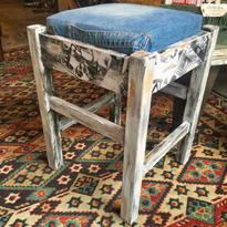 "Re-make Square Stool ""DENIM"""