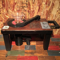 """Coffee Drip Stand """"7inch Record Player"""" 〈Blown × Black〉"""