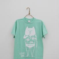 甑島ネコTシャツ 男の子バージョン アイスグリーン