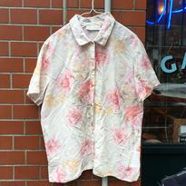 [USED]花柄リネンシャツ