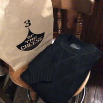 [3 OF THE CHEESE] 3 COTTON KNIT (BLACK-L)