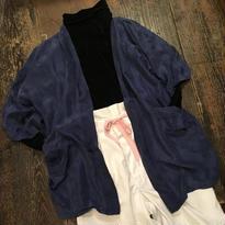 [USED] vintage シンプルSILK CHINA ショート丈ガウン
