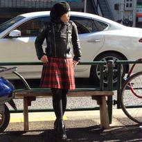 [USED]タータンチェックプリーツスカート