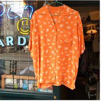 [USED]貝殻模様のレーヨンシャツ