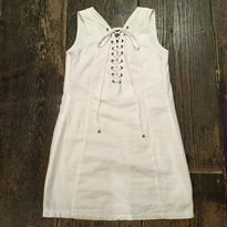 [USED] white COTTON miniワンピース