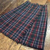 [USED]巻きチェックプリーツスカート