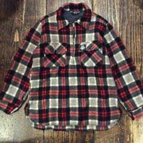 [USED] SWANNDRL ハーフジップウールシャツ