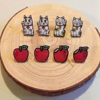 [BENICOTOY] ねこ/りんご ピアス