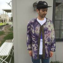 Black Weirdos  Tie Dye Fleece Cardigan