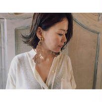 THE Dallas 「Leather Leaf Earrings」
