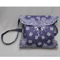INFIELDER DESIGN Bandana Shoeder Bag -NAVY , BLACK