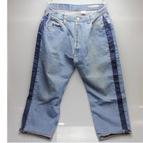 Sunny side up (サニーサイドアップ) ユーズドリメイク SIDE LINE DENIM PANTS BLUE type 5 - size 3 -